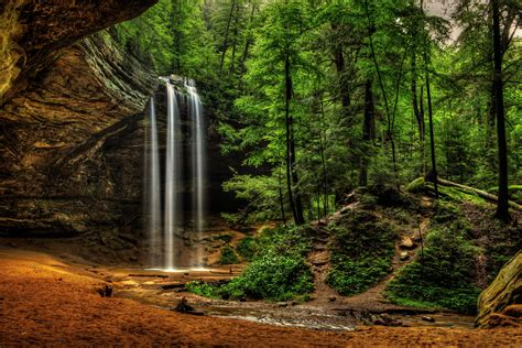 Ohio State Wall Murals usa waterfalls crag ash cave ohio hocking hills state park