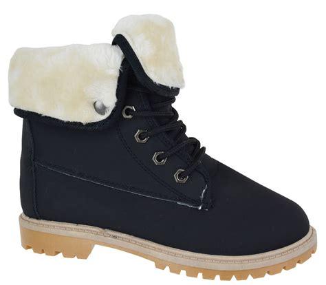 womans fur boots fur trainer womans akle boots winter warm snow grip