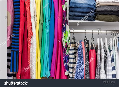 Closet Fashion Store by Fashion Clothes Walkin Clothing Closet Store Stock Photo