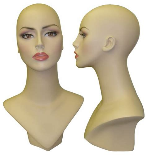 Female Display Heads Mannequin Head Forms Display | mannequin head display head female display bust female head