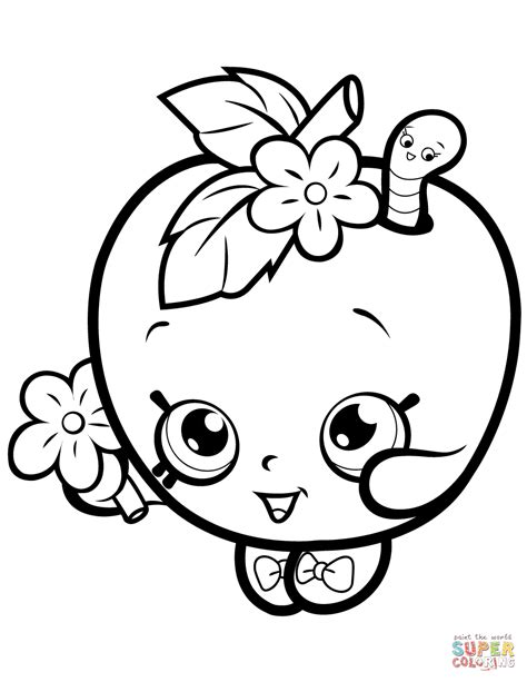 coloring pages of apple blossoms apple blossom shopkin coloring page free printable