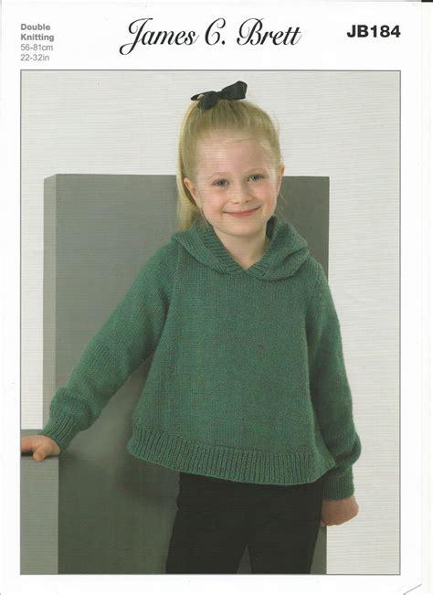knitting pattern sweater girl james c brett girls sweater cardigan dk with merino