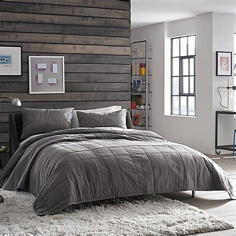 kenneth cole bedding kenneth cole reaction home reflections pillow sham in gunmetal bed bath beyond