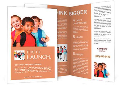 ready made templates for brochures kids ready back to school brochure template design id
