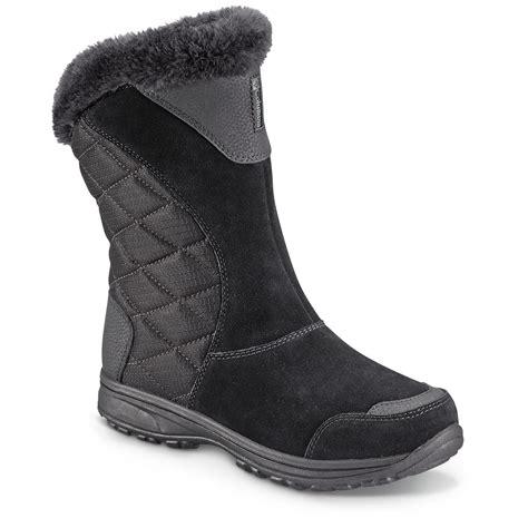 slip on boots for waterproof columbia s maiden ii slip on waterproof boots
