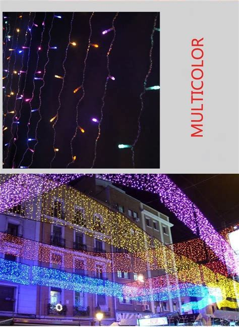 luz de led wave curtain light holiday lighting strings