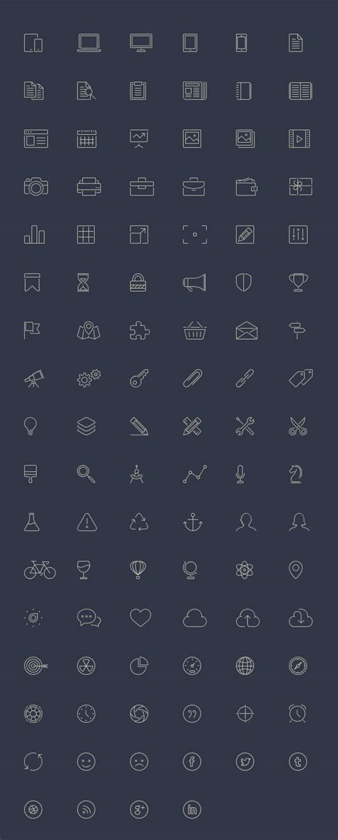 themes line free download 100 free line style icons elegant themes blog