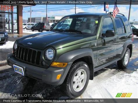 2006 green jeep liberty jeep green metallic 2006 jeep liberty sport 4x4 medium