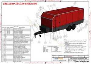 6m Enclosed Trailer Plan Building Plans For Utility Trailers