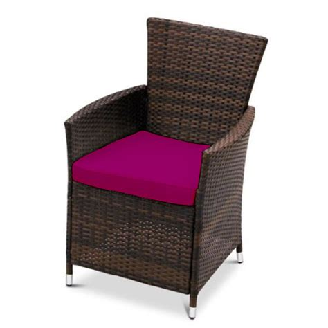 Patio Dining Chairs With Cushions Replacement Dining Chair Cushions To Fit Rattan Garden Furniture Patio Wicker Ebay