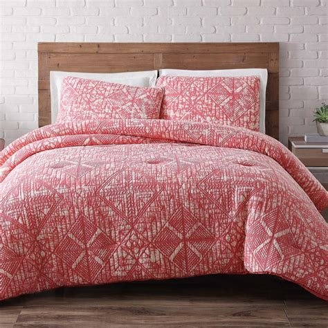 Coral King Comforter Set by Studio 17 Anson Damask Navy White 5 King Comforter Set Ymz006300 The Home Depot
