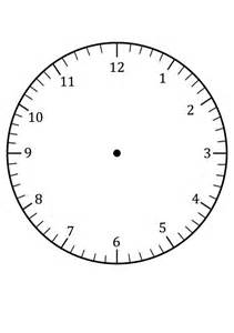 Clock Template by Clock Faces For Use In Learning To Tell The Time Craft
