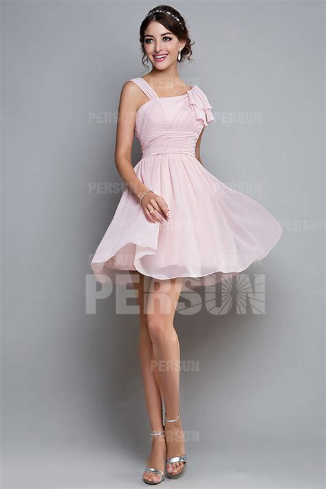 Robe Pour Ceremonie Pale - femme robe de cocktail col asymm 233 trique en mousseline