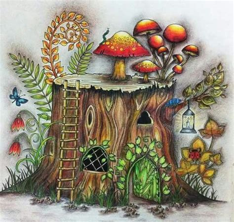 enchanted forest colored 17 best images about enchanted forest colorbook on