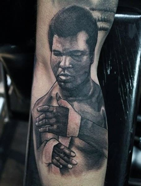 ali tattoo foto magnificent designed and painted black ink muhammad ali