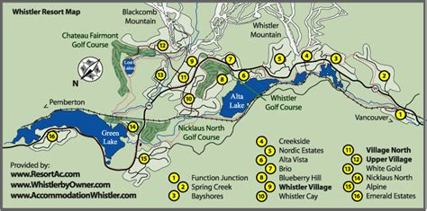 map of whistler canada whistler map whistler accommodation maps bc canada