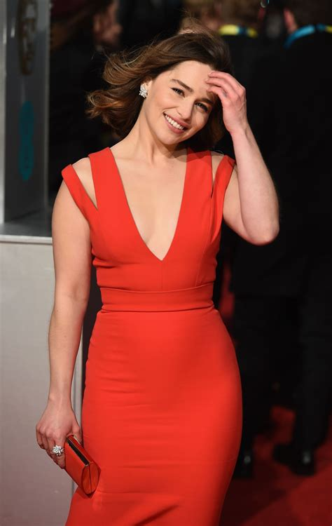emilia clarke bafta film awards 2016 in london