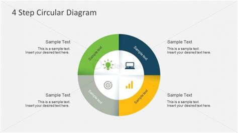 4 step segmented circular diagrams for powerpoint slidemodel 4 step circular diagram for powerpoint slidemodel