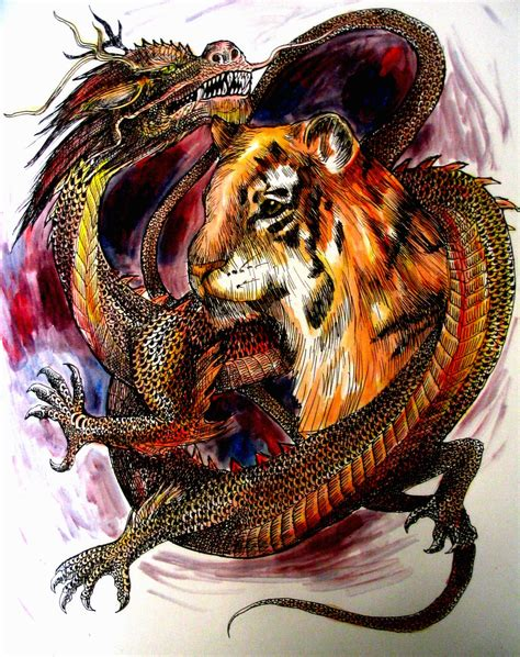dragon tiger tattoo japanese tiger and designs www pixshark
