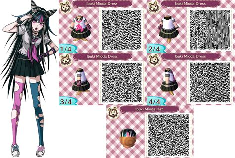 acnl emo acnl ibuki mioda outfit qr codes request by acnl qr