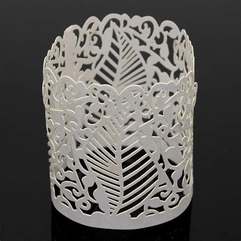 kerzenhalter papier 6pcs diy teelicht kerzenhalter lshade votiv hochzeit