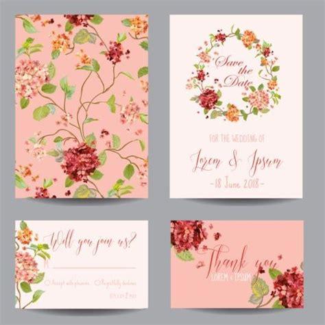 Wedding Flower Vector by Autumn Flower Wedding Invitation Vectors 02 Vector