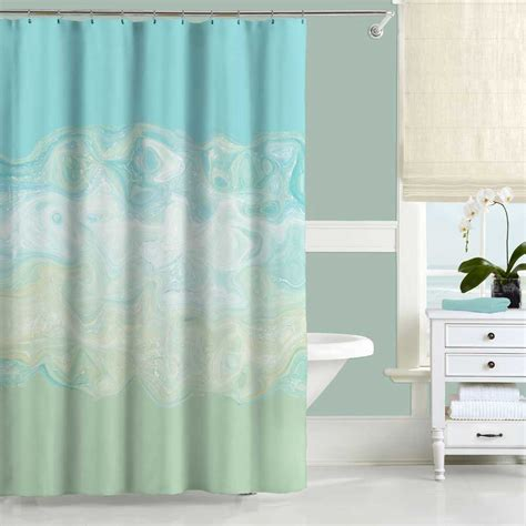 Mint Green Shower Curtain Aqua Blue Shower Curtain Bath Shower Curtain For Bathroom