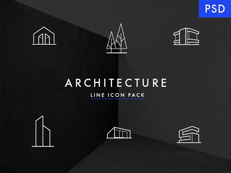 design icon architects minimal architecture line icon pack free psd minimal