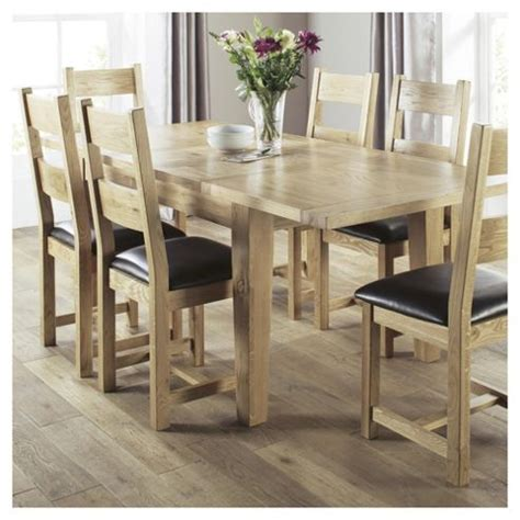 buy java 6 seat dining table set with chairs solid wood