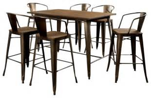 Industrial Dining Table Set Furniture Of America E Commerce By Enitial Lab Cooper Industrial Style Metal Frame Counter