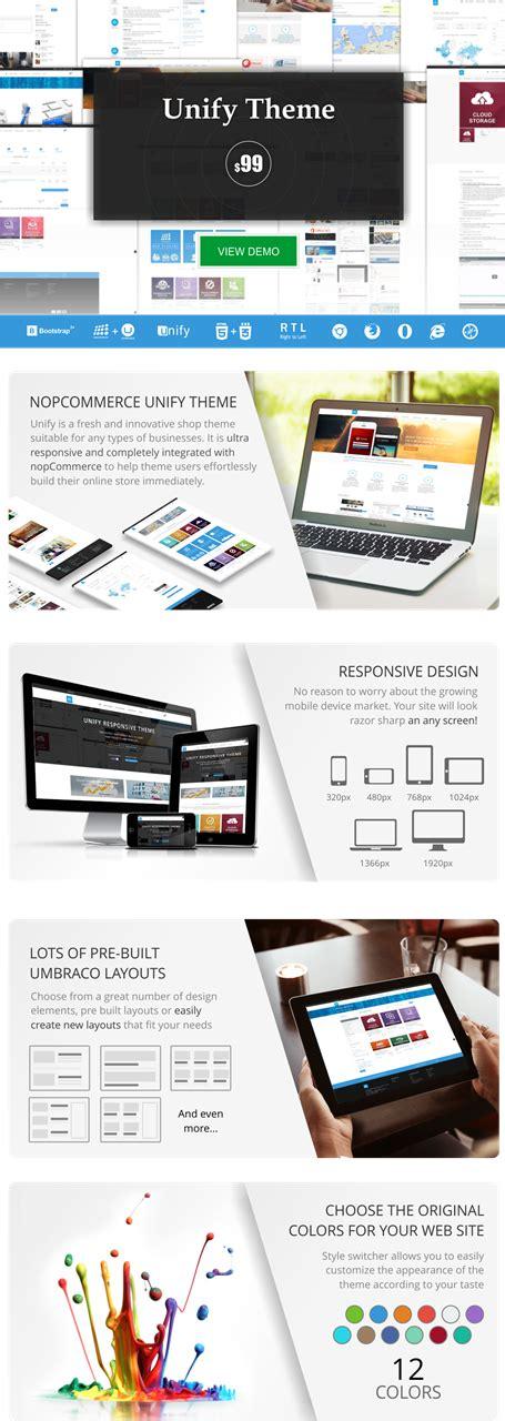 bootstrap themes unify nopcommerce unify theme dev partner biz nopcommerce