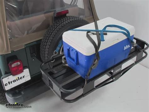 surco spare tire mounted cargo basket  long   wide surco products vehicle organizer