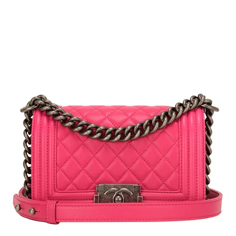 Chanel Anak Pink K chanel pink quilted lambskin small boy bag world s best