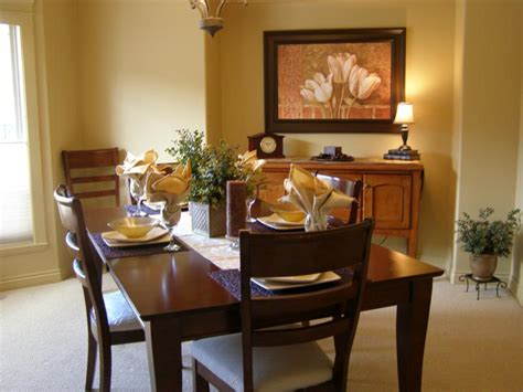 How To Stage A Dining Room Table by Staging The Dining Room