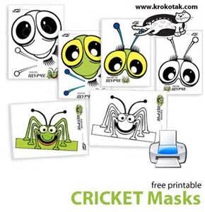 printable grasshopper mask masks and cricket on pinterest
