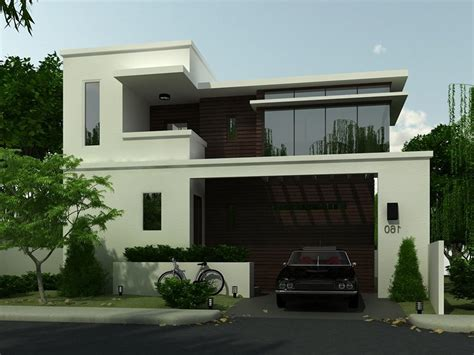 simple modern house architecture with minimalist design
