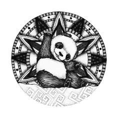 panda mandala tattoo https www behance net gallery 25992521 panda mandala