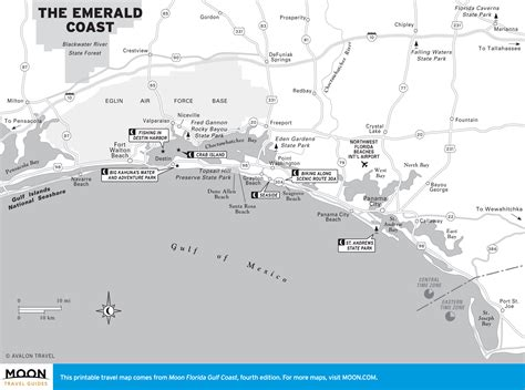 florida emerald coast map travel map of the emerald coast of florida