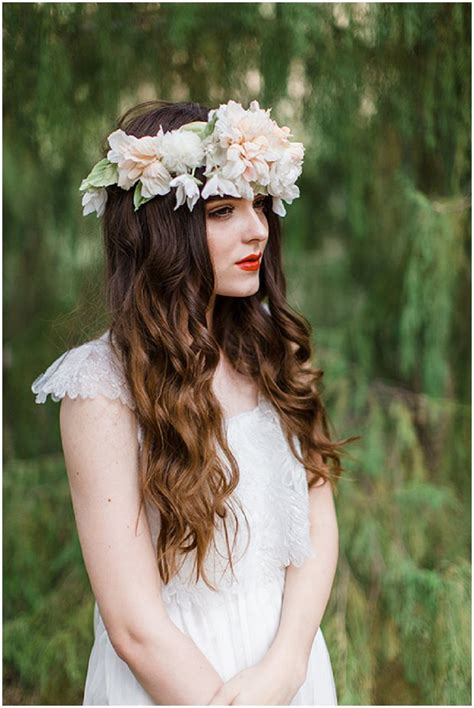 Handmade Headpieces - handmade floral headpieces by mignonne flowers