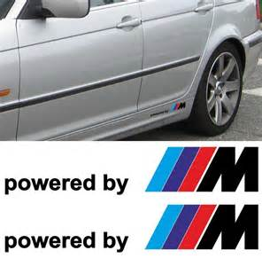 Bmw Decals 2x Bmw Powered By M M3 M5 M6 325 328 540 Decal Sticker