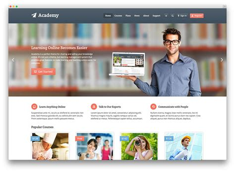 online education templates free download image collections