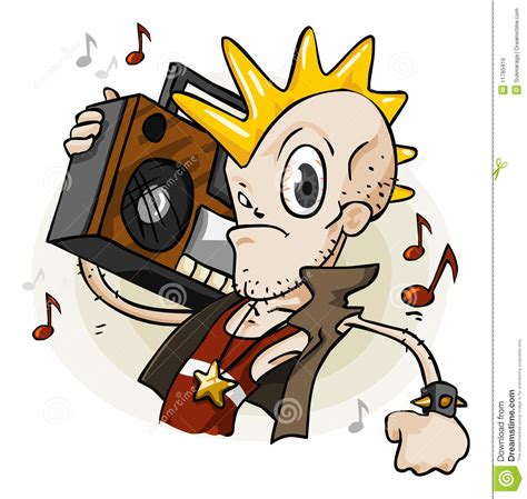 wallpaper cartoon punk punk with stereo cartoon series royalty free stock images