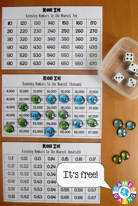 printable rounding games roll it rounding game rounding game and free games