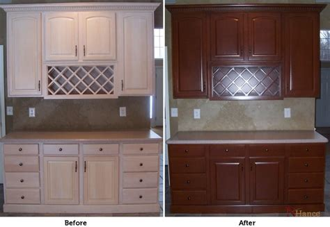 kitchen cabinet refinishing color change whitewash to