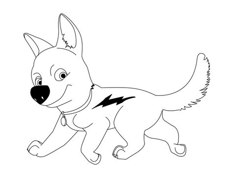 coloring pages of bolt the dog bolt coloring pages