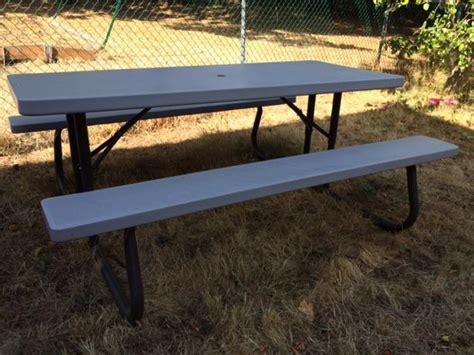 lifetime 6 ft folding picnic table with benches lifetime 6 ft folding picnic table saanich victoria