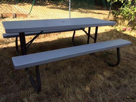 lifetime picnic table lifetime 6 ft folding picnic table saanich