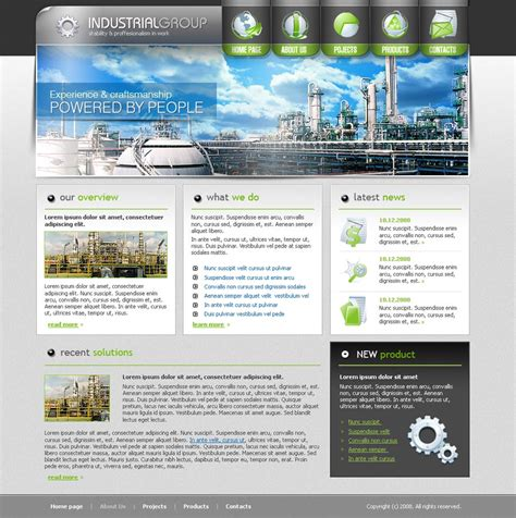 industrial template industrial website template id 300110077