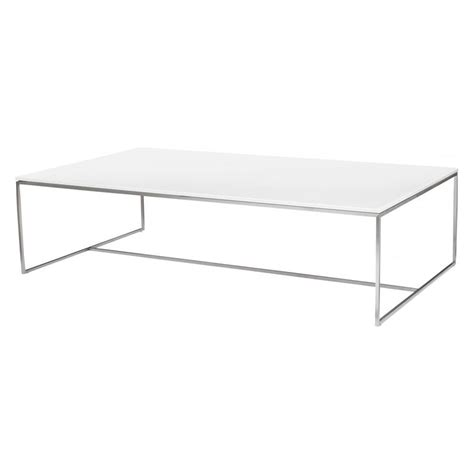 White Rectangular Coffee Table Buy Gillmore Space White Glass And Steel Coffee Table At Fusion Living