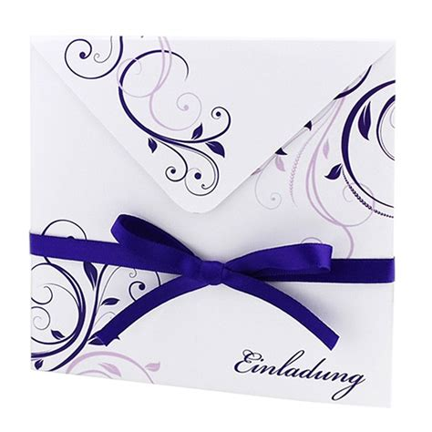 Hochzeit Einsteckkarten by Hochzeitseinladung Quot Violet Quot Mit Lila Ornamenten Und